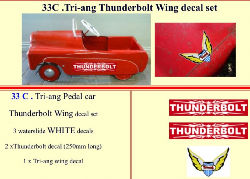 33C Tri-ang Thunderbolt Wing decal set